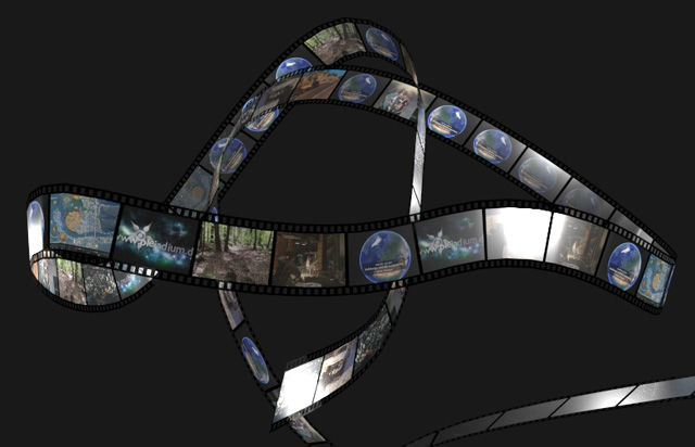Filmstreifen geblendert