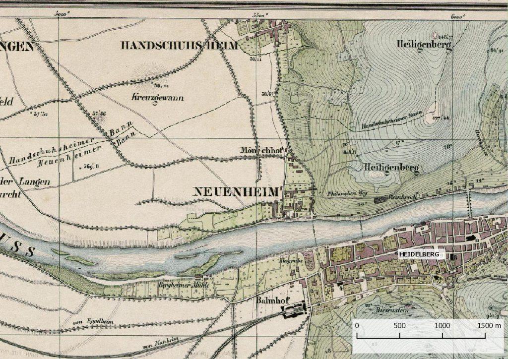 Rothe'sche Karte von Heidelberg