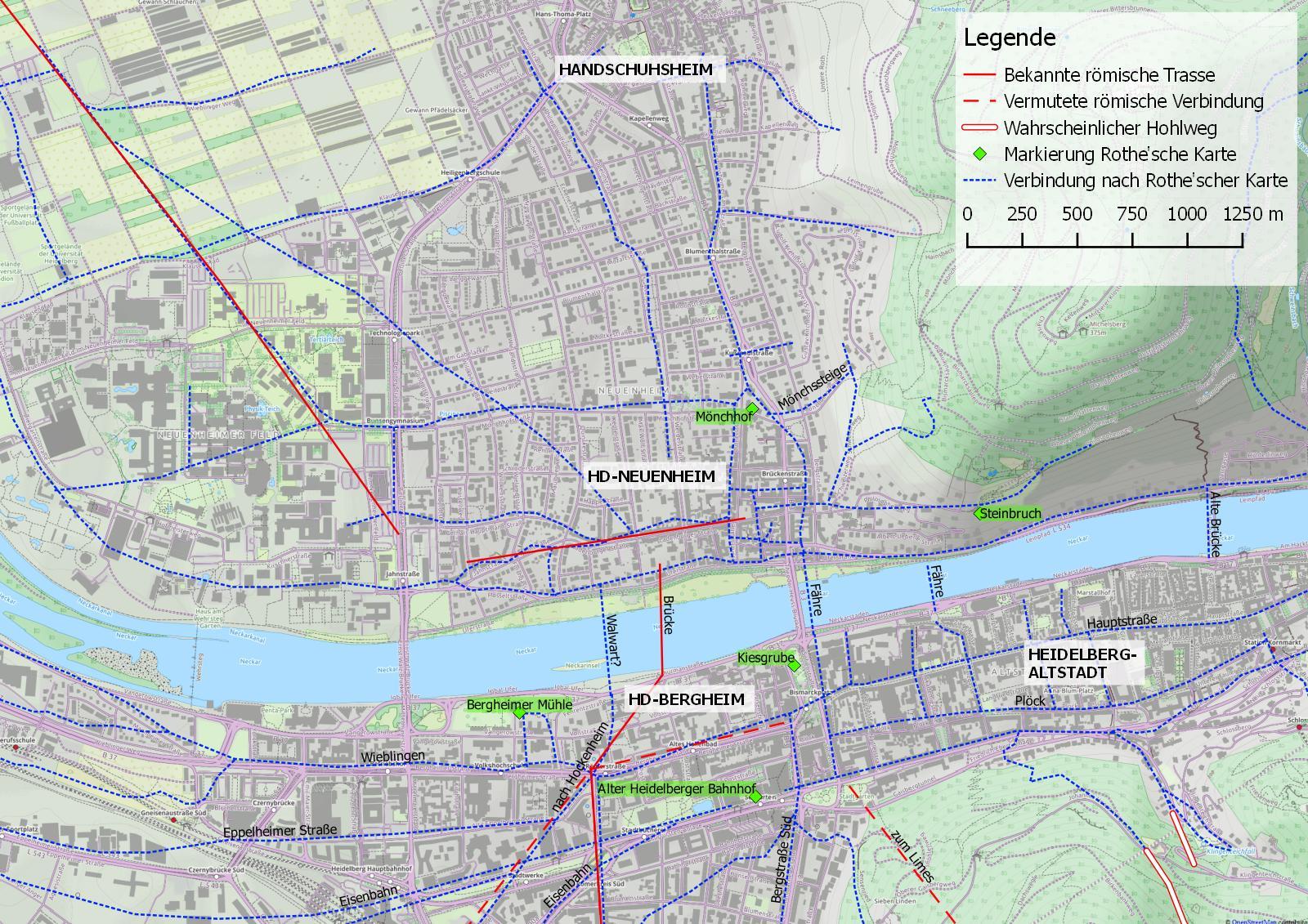 GIS mit Rothe'scher Karte