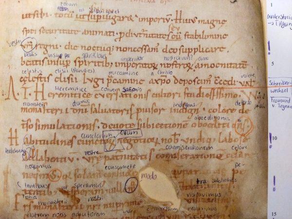 Hier ein Beispiel: Ein Brief, der um das Jahr 1000 geschrieben wurde