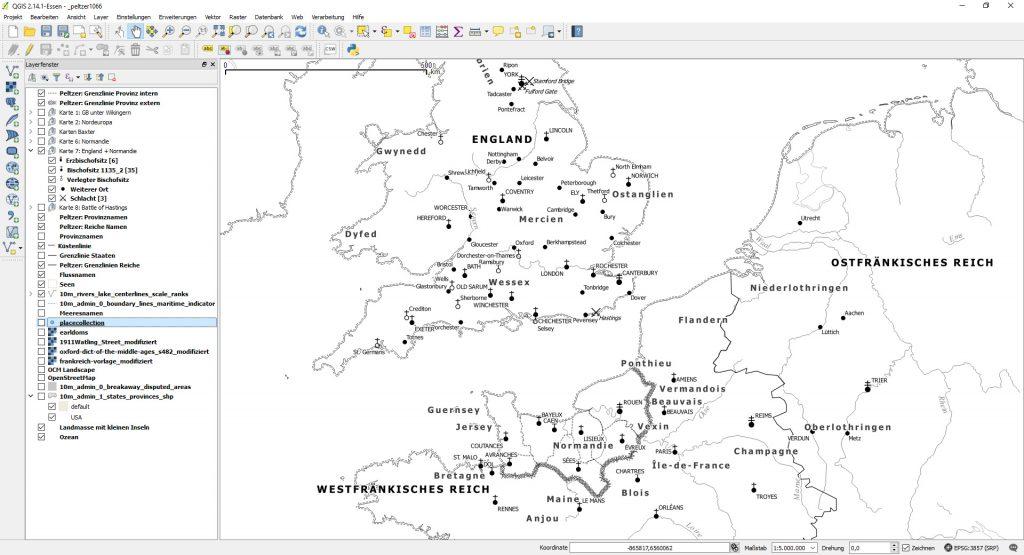 Eine der Karten - links die ganzen Vektorlayer, aus denen das Gesamtwerk besteht