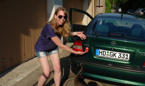 Historischer Moment: Auto getauft!