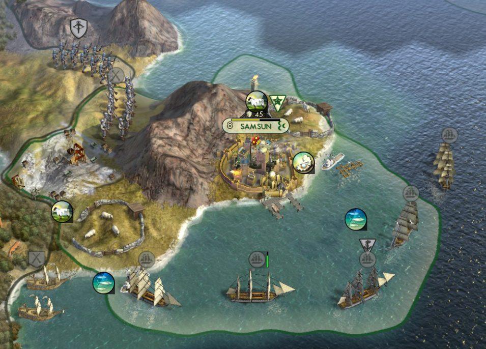 Die Ästhetik der Seeblockade :D Hier noch mit bescheidener Flotte
