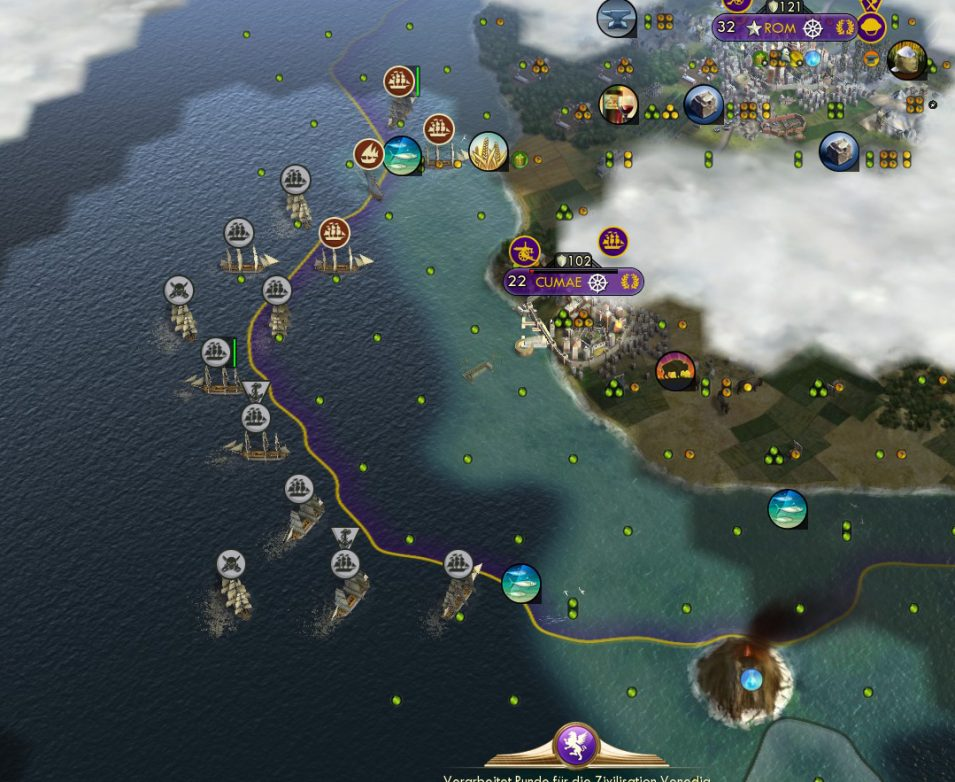 Viele Schiffe gegen einen technologisch höheren Feind