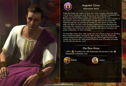 Augustus Caesar in Civilization V