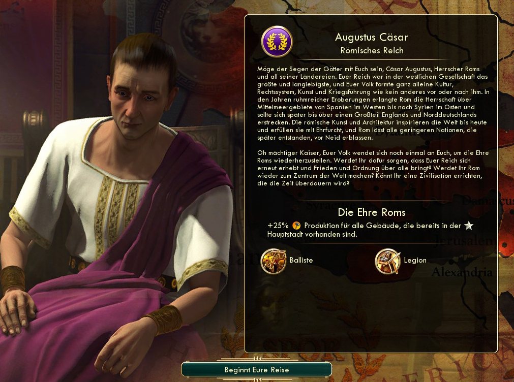Augustus Caesar in Civilization V