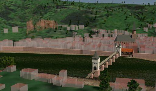 Rekonstruierte Brücke von Heidelberg