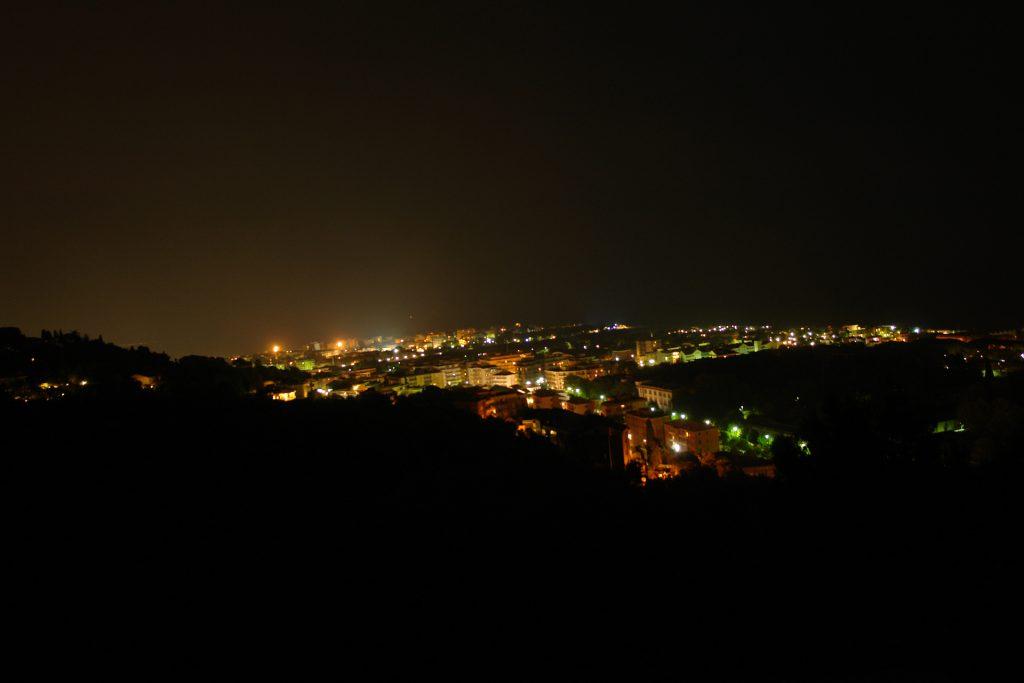 Aussicht bei Nacht (Richtung Albenga)
