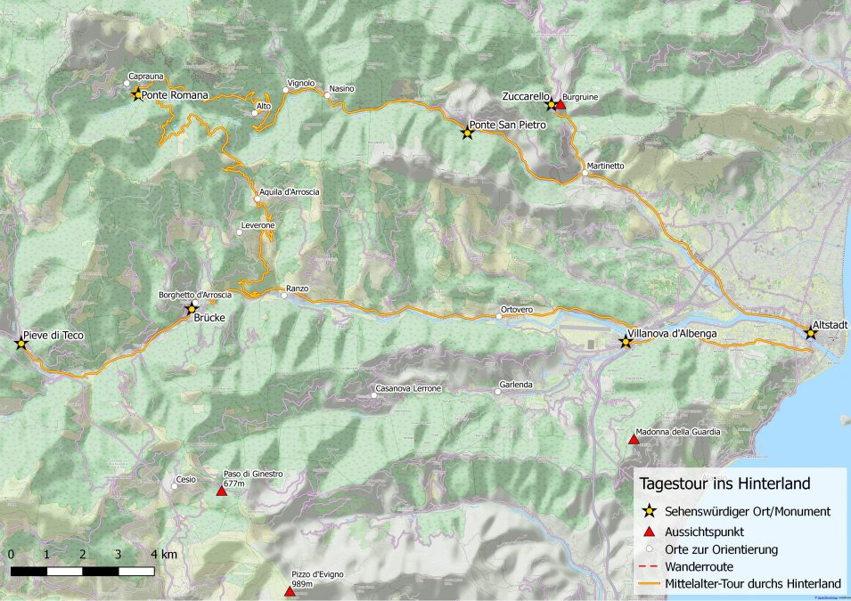 Tagestour durch das Arroscia- und Pennevaire-Tal
