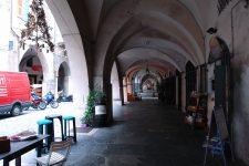 Arkaden von Pieve di Teco