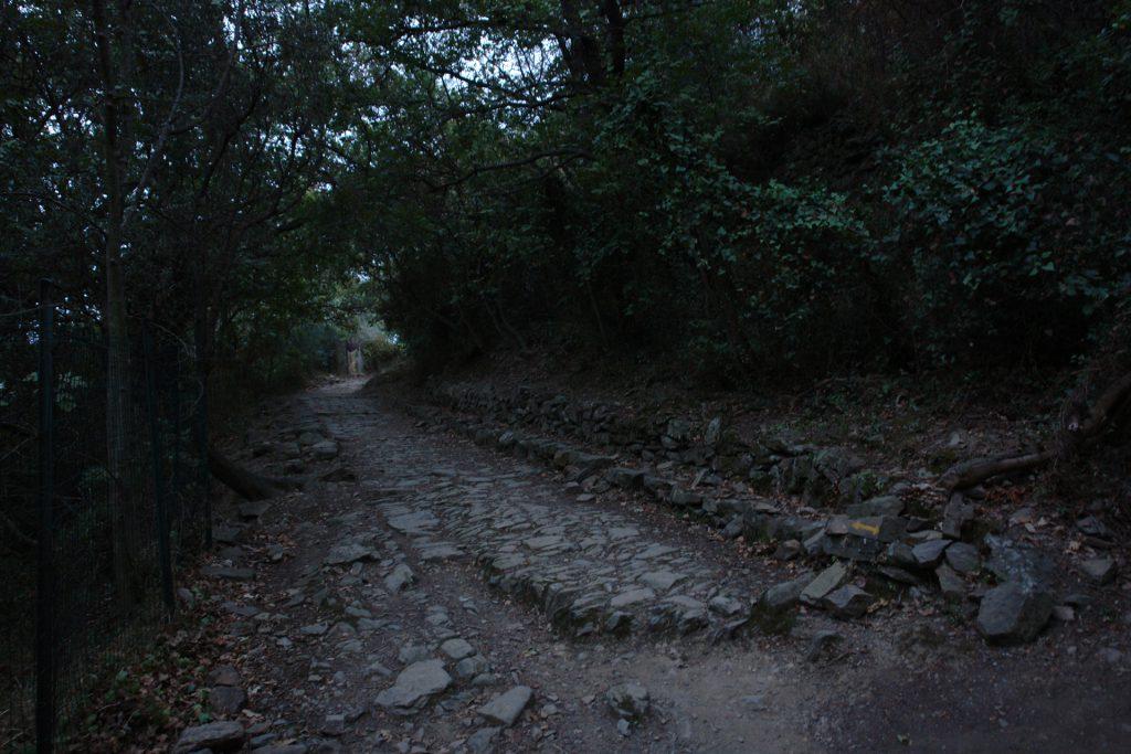 Originale römische Straßenpflasterung der Via Iulia Augusta