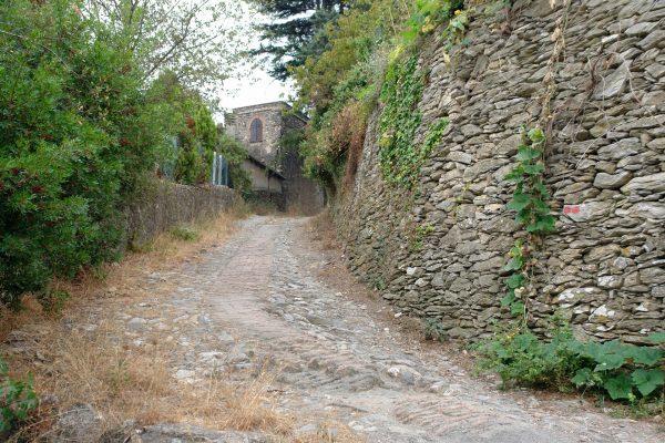 Startpunkt der Wanderung entlang der Via Iulia Augusta