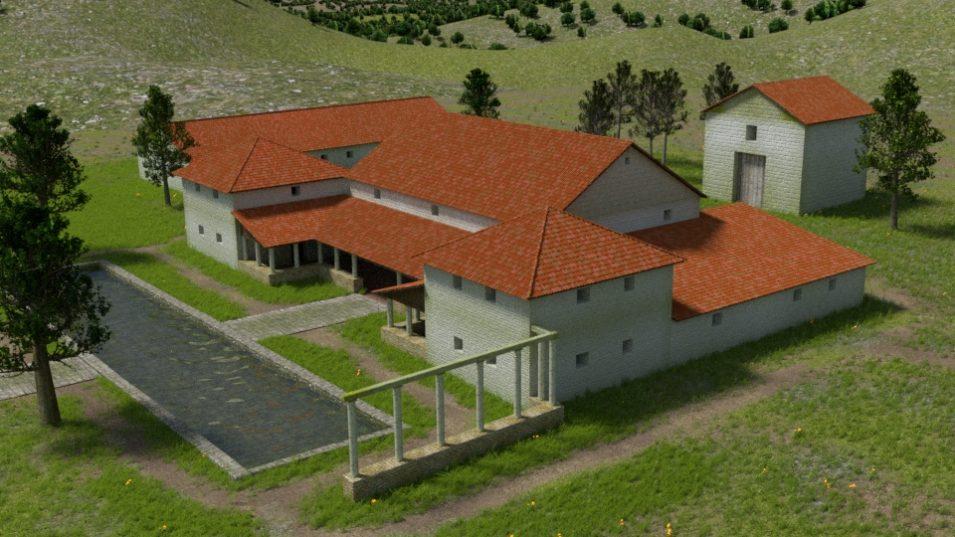 3D Villa Rustica Großsachsen, Ansicht Nord-Ost