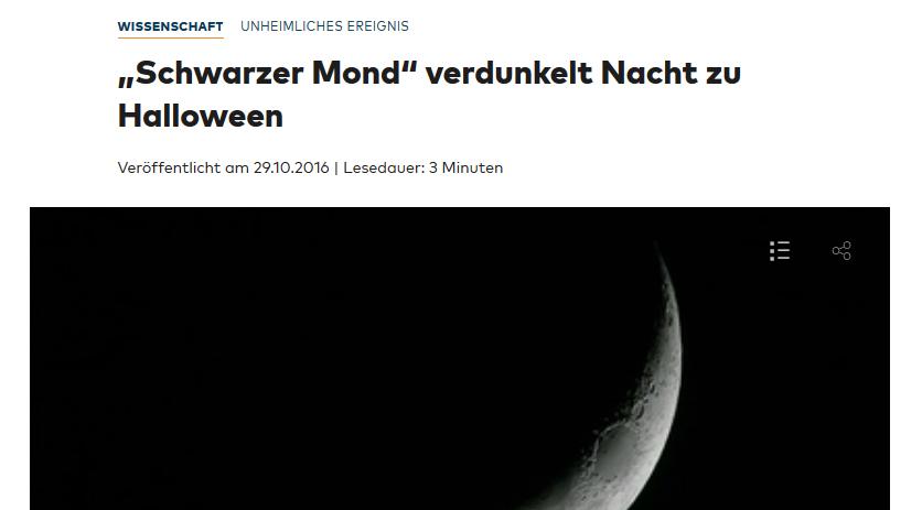 """Artikel über """"Schwarzen Mond"""" inkl. 44 sekündigem Video (nach 30 Sekunden Werbung..)"""