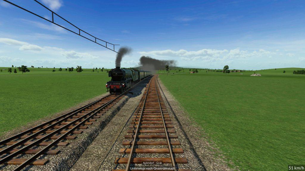 Zugfahrt aus Sicht des Lokführers