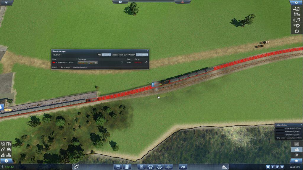 Blockierter Zug in Transport Fever