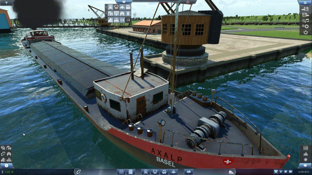 Ein Transportschiff aus der Nähe