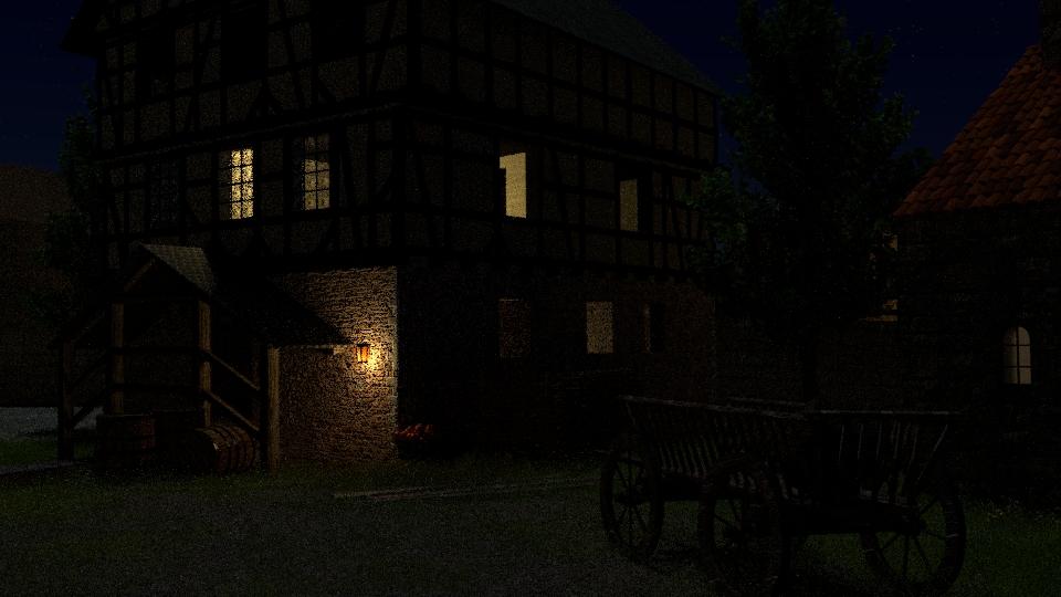 Nacht über Burg Tannenberg