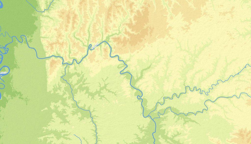 Fertiges topografisches Höhenrelief