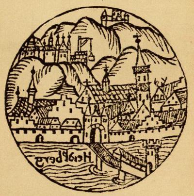 Erste Heidelberger Stadtansicht mit der Alten Brücke, 1527