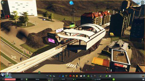 Monorail-Station auf einer Straße