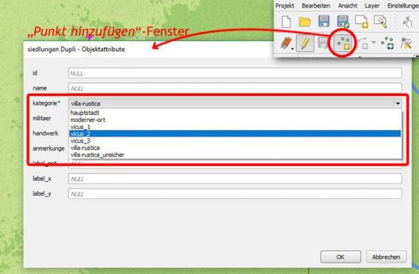 QGIS-Tipp: Dropdown-Menüs bei der Dateneingabe verwenden