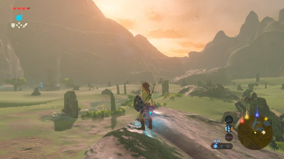 Breath of the Wild - Sonnenuntergang über Ruinen