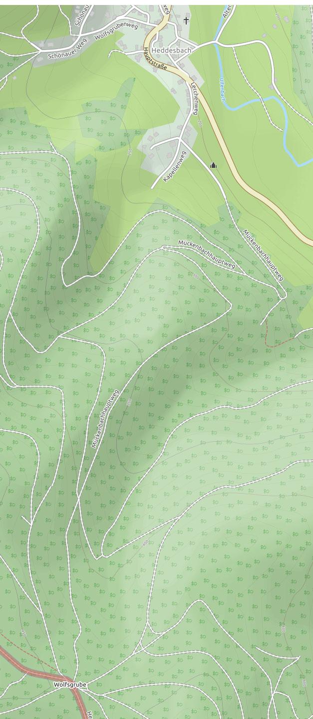 Kartenausschnitt aus Open Street Maps