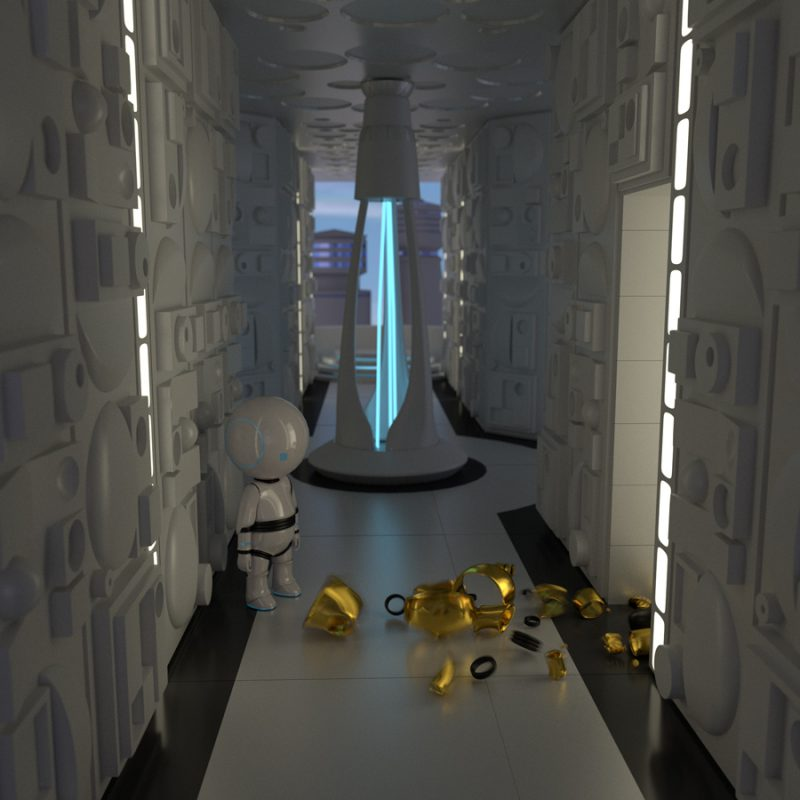 Roboter in Cloud City