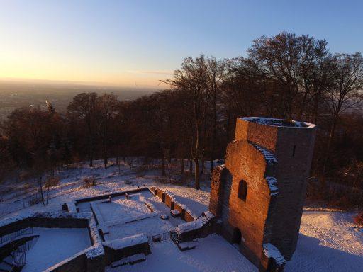 Drohnenfoto auf dem Heiligenberg
