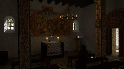 Kapelle St. Johannes Täufer Burg Tannenberg Seeheim