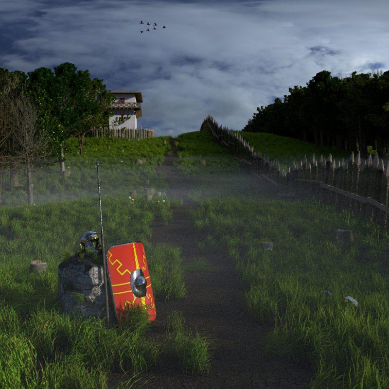 Der Limes (3D-Szenerie)