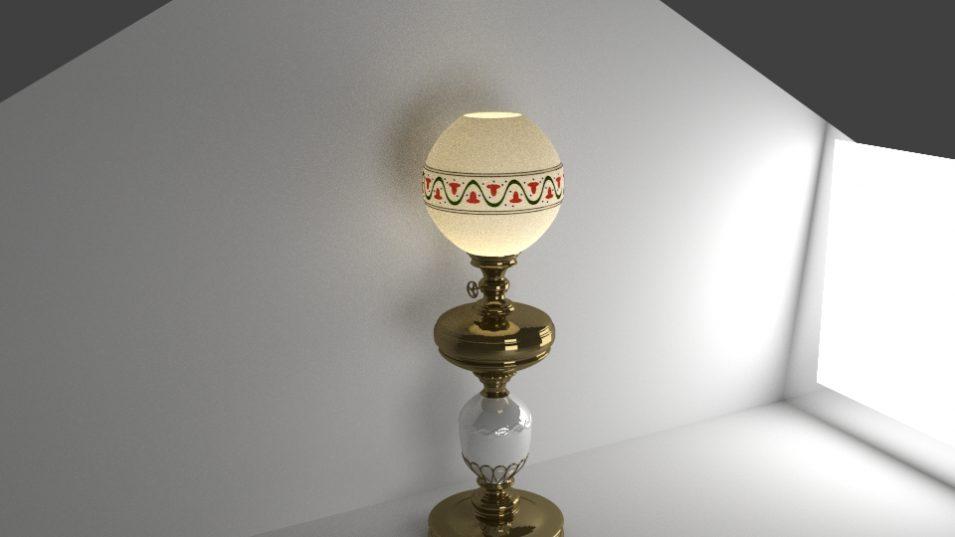 Petroleumlampe in 3D