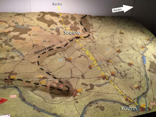 Topographie des Oderbruchs und Seelower Höhen