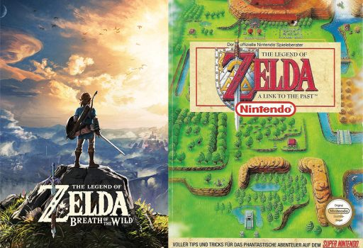 Breath of the Wild und A Link to the Past Spielecover