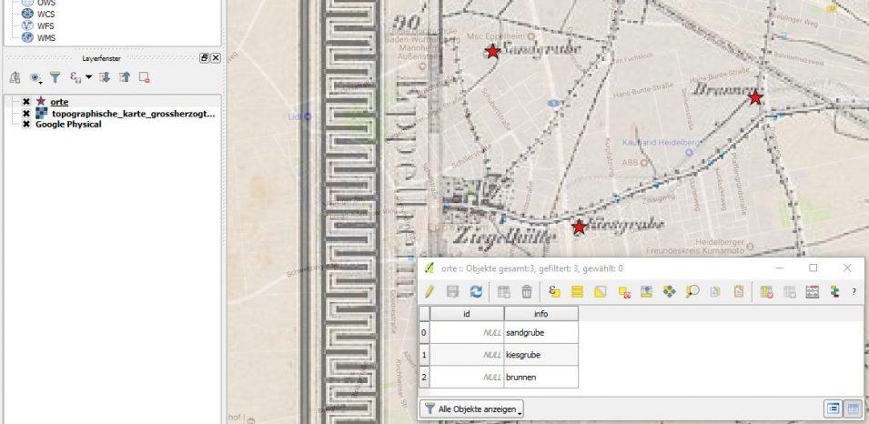 QGIS - Punkte als Vektordaten