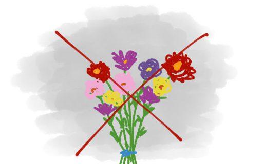 Kein Blumenstrauß zum Gedenktag, bitte