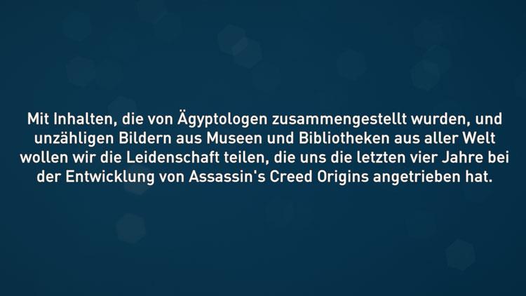 Das Intro zum Entdeckermodus von Ubisoft