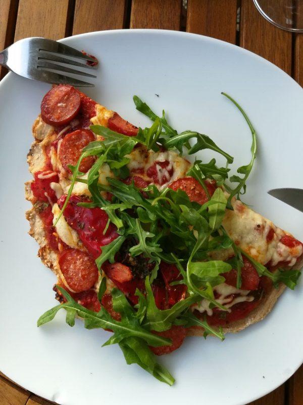 Pizza aus dem Kugelgrill
