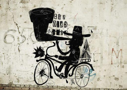 Multitasking auf dem Fahrrad