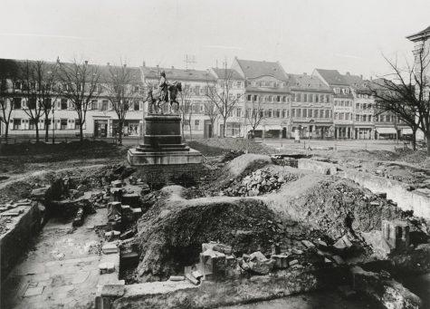 Ludwigsplatz in Heidelberg 1912