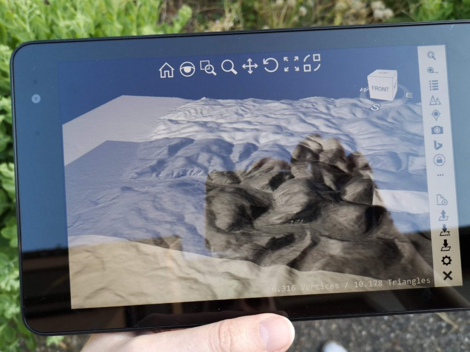 planlauf/TERRAIN auf Tablet