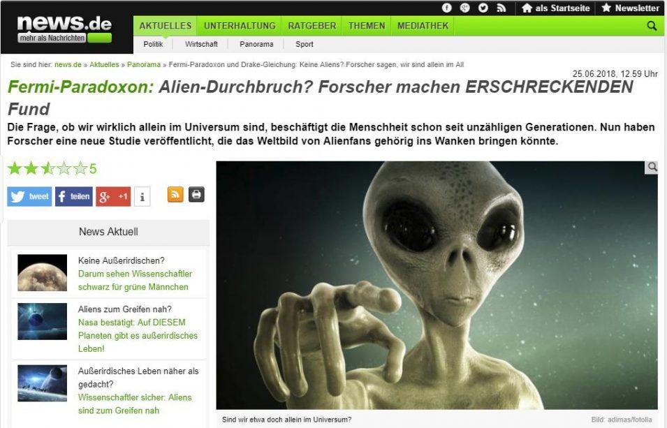 Clickbait-Schlagzeile