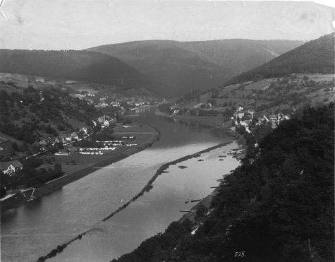 Schlierbach und Ziegelhausen Richtung Osten, 1914