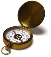 Mit Blender erstellter Kompass