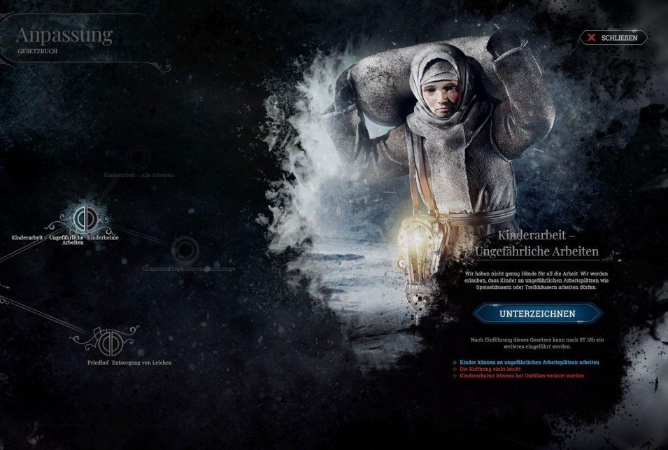 Kinderarbeit in Frostpunk