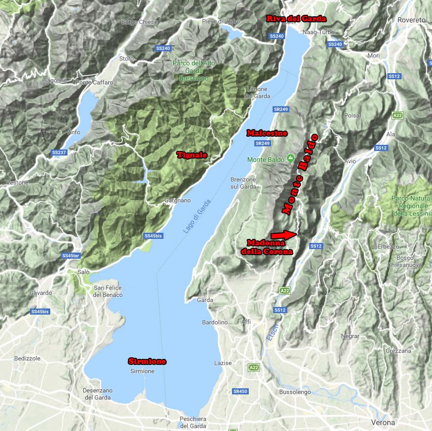 Gardasee-Karte