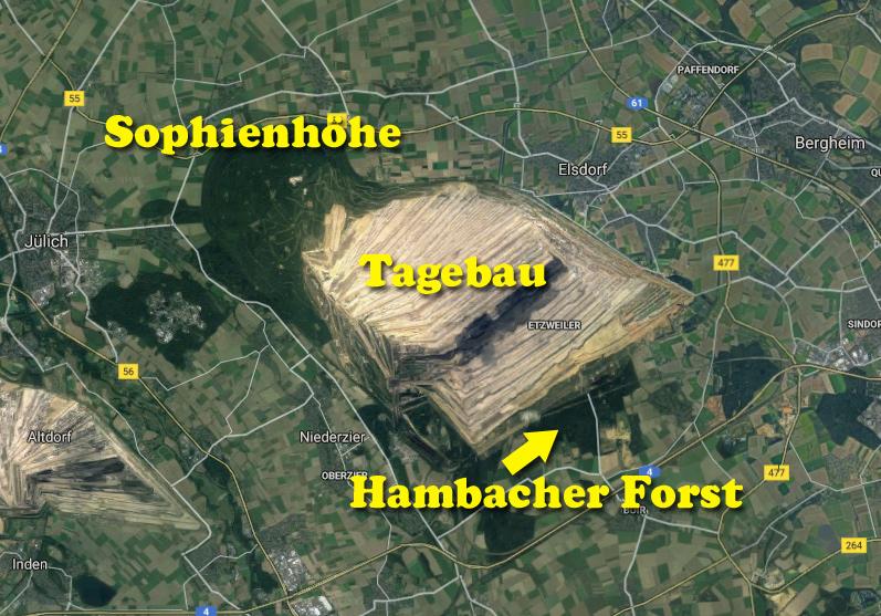 Übersicht über den Hambacher Tagebau
