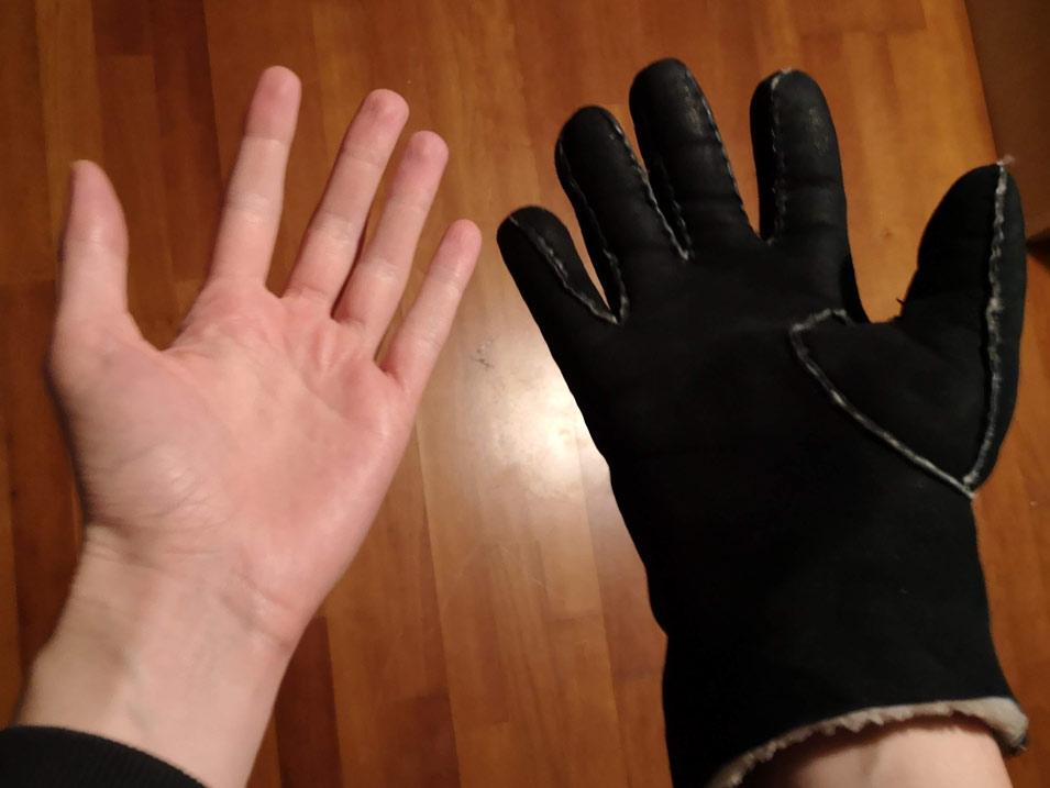 Nur noch ein Handschuh