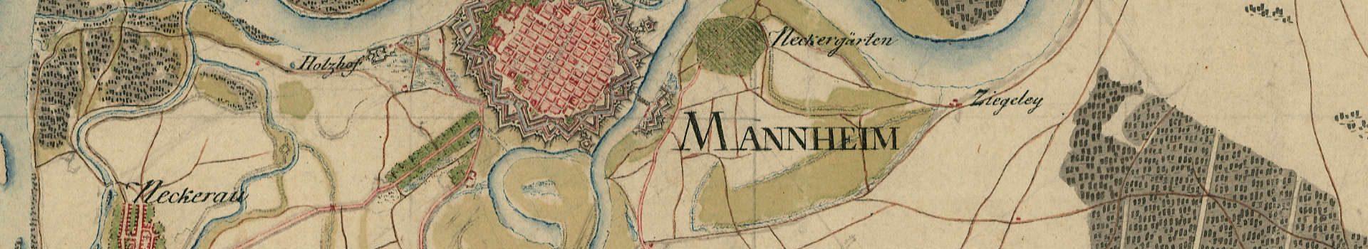 Mühlen, Galgen und Wege: Historische Karte von Südwestdeutschland (1797/98)